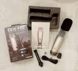 Microfone Condensador Samson C01U Pro USB Supercardióide