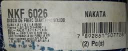 Disco de Freio Solido Dianteiro Nakata Par Kf6026,