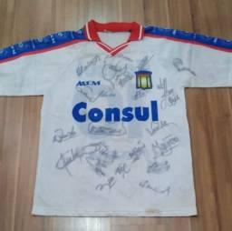Camisa AD São Caetano autografada 1999