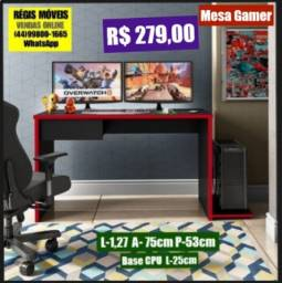 Mesa Escritorio Games Tampo e Laterais em 25mm Nova