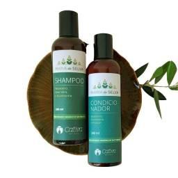 Kit Natural Shampoo E Condicionador Maria Da Selva Da Cativa
