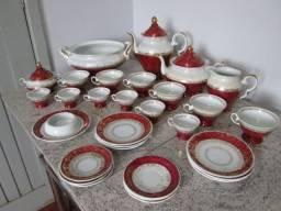 Conjunto Porcelana Schmidt - Década de 60 - Chá Café Sopeira Bule Pratos