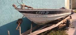 Barco de Aluminio com Carretinha