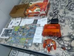 Nintendo 64 tangerina C/ nota completo aceito cartão