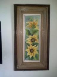 Quadro Floral em tela