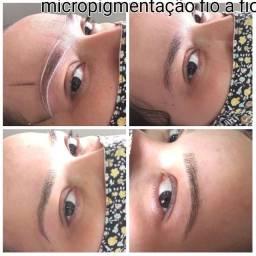 Extensão de cílios e micropigmentação