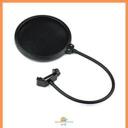Pop Filter Tela Anti Sopro com Haste Flexível para Microfone
