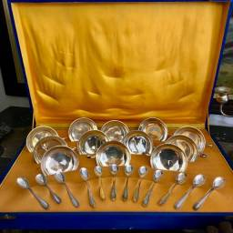 Conjunto de Prata 12 serviços para Sobremesa usado