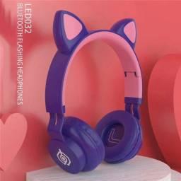 Headphone cat ear com led