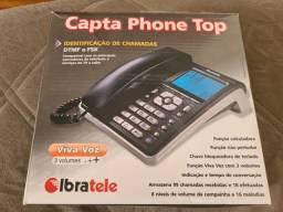 Telefone fixo Ibratele Capta Phone Top cinza<br><br><br>