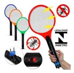 Título do anúncio: Raquete Elétrica Mata Mosquito Recarregável Bivolt