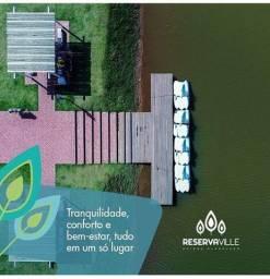 Lotes parcelados reserva ville com lago e praças caldas novas