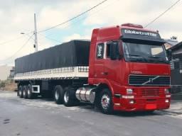 Conjunto Volvo FH 2003 Globetrotter e Carreta Graneleira Librelato 2012