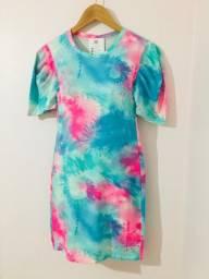 Vestido Tie Dye Curto - M