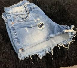 Shorts jeans tamanho 34