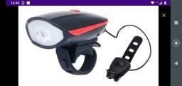 Lanterna de bike com busina