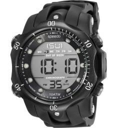 Relógio Speedo, com fundo preto. Contato: *