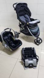 Carrinho + bebê conforto + isofix importado