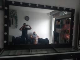 Bancada com espelho pra salão 1500