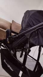 carrinho de bebê Burigoto na cor preta