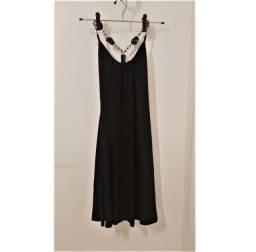 Vestido curto em malha preto
