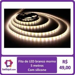 Fita LED 5 metros   Branco morno  