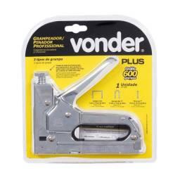 Título do anúncio: Grampeador Pinador Profissional 6 - 14mm Grátis 600 Grampos Vonder Plus