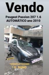 Peugeot passion 207 1.6 AUTOMÁTICO ano 2010