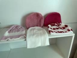 5 gorros / toucas de lã