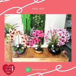Presente para dia das mães arranjos de orquídeas artificiais
