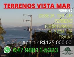 Terreno Praia ''Vista Mar''- Lote Único. Penha-SC.