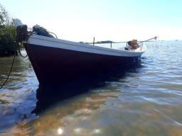 Barco artesanal madeira nobre e chapa 0.65mm