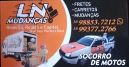 LN MUDANÇAS CARRETOS E SOCORRO DE MOTOS RIBEIRÃO REGIÃO CAPITAL