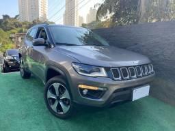 Título do anúncio: Jeep Compass longitude diesel 2018 cinza + teto black