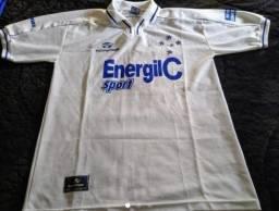 Camisa Cruzeiro MG - 7 - Branca 1999 - Topper