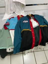 Lote de camisas de pesca esportiva G/GG