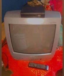 Vendo conversor com controle e uma televisão 14polegadas