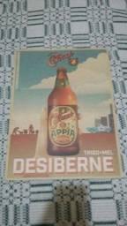 Pôster antigo cerveja leia !