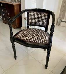 Cadeira Luís XV Laqueada preta