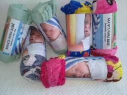 Mantinhas para recém nascido 6 unidade