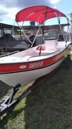 Lancha de pesca e passeio ano 2021 e carreto