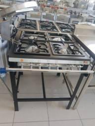 Fogão 4 bocas industrial cozinha padaria restaurante * cesar