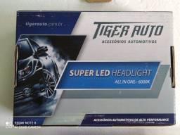 Lâmpada Super Led Malha 6000k 12/24v 6400l H4  Tiger auto modelo TG-10.03.003