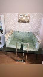 Mesa de vidro alto padrão