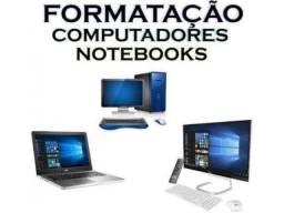 Manutenção, formatação de notebook e computador