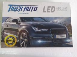 Kit Led Headlight Com Reatores H7 Tiger Auto