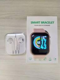Smartwatch y68 + fone de ouvido
