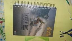 Vendo caderno, 15 materiais. r$10,0