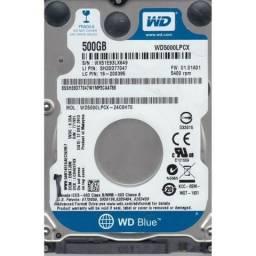 HardDisk Notebook 500GB Western Digital - Testado e Funcionando