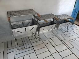 Churrasqueiras de alumínio desmontável apronta entrega